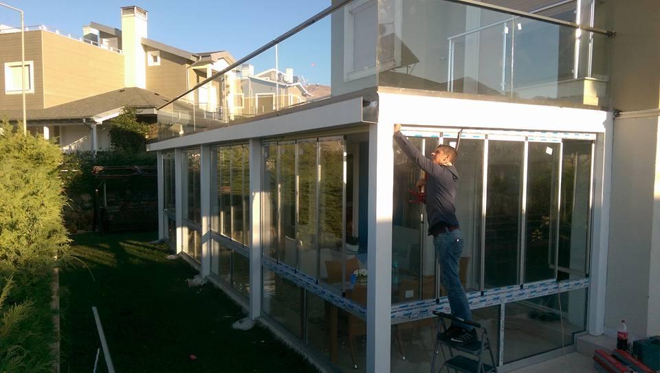 sandviç panel çatı kış bahçesi