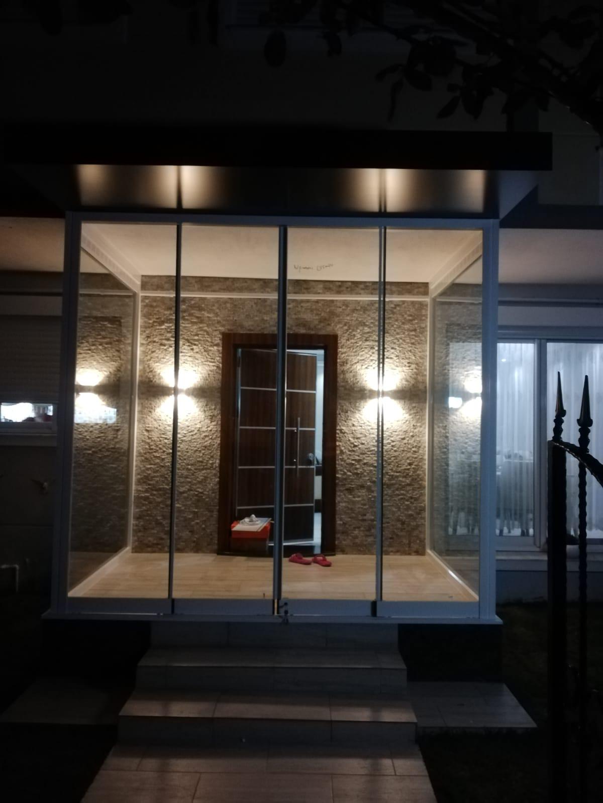 villa önü cam tavan İzmir